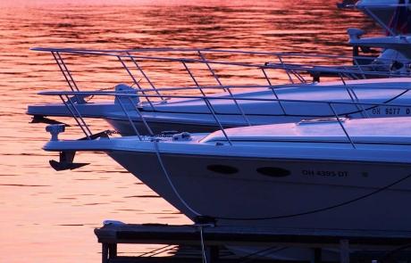 Harbour HOA Sandusky Ohio Boats at Sunset