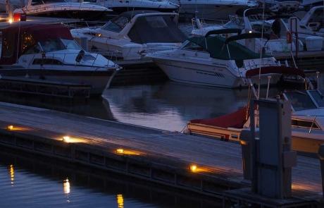 Harbour HOA Sandusky Ohio Boats at Night